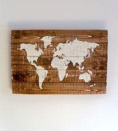 World Map Wood Art | Thula
