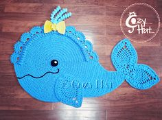 Whale Rug Crochet by Cozy Hat