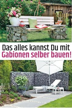 Gabionen selber bauen - how to build a fence Christmas House Lights, Large Christmas Baubles, New Kitchen Doors, Building A Fence, Outdoor Lighting, Outdoor Decor, House Entrance, Outdoor Christmas Decorations, Clever Diy