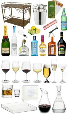 how to: stock a bar cart. Something I will definitely have in my house.