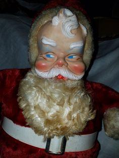 Vintage Bijou Toy Design Stuffed Santa by VintageBarnYard on Etsy
