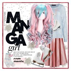"""""""So Cute: Manga Ice Skating Style"""" by yours-styling-best-friend ❤ liked on Polyvore featuring M&S Collection, Riedell and Lipsy"""