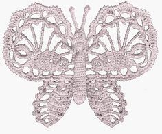 Passione uncinetto: Farfalle ad uncinetto
