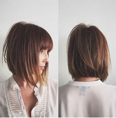 Inverted bob hairstyles still remains their popularity among women for long period. In this article, Super Inverted Bob Hairstyles are showcased for you. Inverted Bob Hairstyles, Bob Hairstyles With Bangs, Short Layered Haircuts, Short Hair With Bangs, Pretty Hairstyles, Bob Haircuts, Bob Hairstyles With Fringe Mid Length, Mid Length Hair Styles With Layers, A Line Bob With Bangs