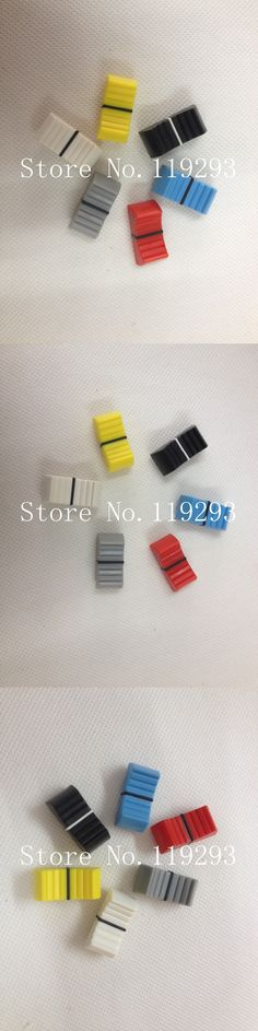 [BELLA]Mixer fader knob cap word shouted hole width 8MM red and blue and yellow lime--50PCS/LOT
