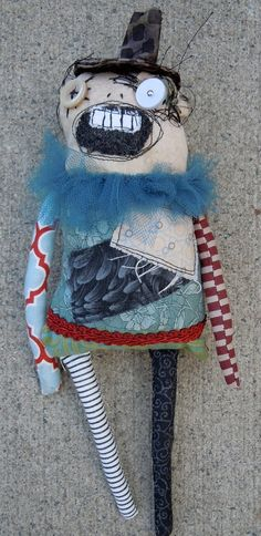 Herman, the Ringmaster zombie monster doll - by monstermaud