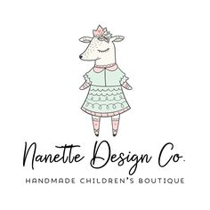 Premade Logo - Girly Deer Premade Logo Design - Customized with Your Business Name!
