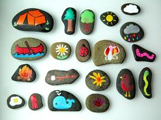 Activity for ages 4 to 7. I've been dying to make story stones ever since I came across them on Pinterest and thought this would be a perfect camp craft to do with my 4 year old daughter, A, while her brother napped in the tent. I've seen story stones made using acrylic paint, permanent …