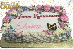 And once again, another memorable retirement cake at Hay Mutual Insurance Co. Cupcake Cakes, Cupcakes, Retirement Cakes, Sheet Cakes, Coffee Cake, How To Memorize Things, Birthday Cake, Desserts, Postres