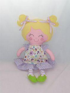 Custom Cloth doll baby doll dress up doll small doll by cocomia, $40.00