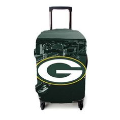 Green Bay Packers Emblem Luggage Cover – Etsyenvy Luggage Cover, Green Bay Packers, Suitcase, Briefcase