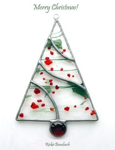 I bought this glass thinking it would make a great little Christmas tree! This is a hand rolled glass by Bullseye Glass Fused Glass Jewelry, Fused Glass Art, Stained Glass Art, Mosaic Glass, Stained Glass Ornaments, Stained Glass Christmas, Glass Christmas Ornaments, Christmas Trees, Merry Christmas