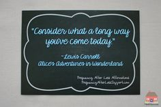 """Consider what a long way you've come today"" by Lewis Carroll from the PregnancyAfterLossSupport.com Original Pregnancy After Loss Affirmations line by Valerie Meek #PregnancyAfterLossAffirmation #PALAffirmation"