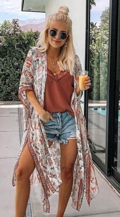 Korean Summer Outfits, Summer Outfit For Teen Girls, Classy Summer Outfits, Summer Outfits Women Over 40, Summer Dress Outfits, Fall Outfits, Bohemian Outfit Summer, Casual Dresses, Cute Summer Dresses
