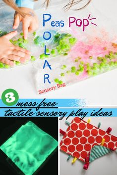 3 great ideas for mess free tactile sensory play featured on Tuesday Tutorials…