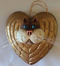 Елочное украшение кошка котенок усы золото сердце объемный391,30 руб.