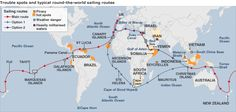 Piracy Route - Across the world dangerous areas. Yacht delivery Worldwide