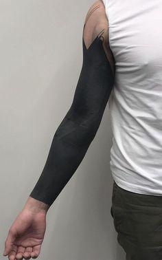cool blackout tattoo ideas for men © tattoo artist Sarb 💗💗💗💗💗