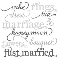 Wedding Word Set SVG cut files wedding svg cut files for scrapbooking $.50