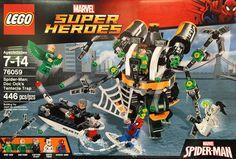 LEGO 76059 Marvel Super Heroes SpiderMan Doc Ock's Tentacle Trap by kingjonnieoflego Lego Marvel Super Heroes, Marvel Marvel, Trap, Captain Stacy, Hero Spiderman, Lego Club, Buy Lego, Lego News, Saint James