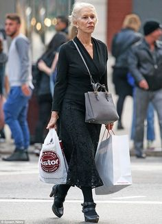 City stroll: The Oscar-winning actress kept it simple in an all-black ensemble...