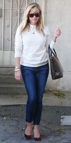 Look of the Day - January 08, 2015 - Reese Witherspoon in Tory Burch from #InStyle