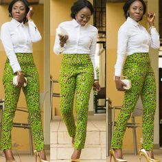A collection of the best and Latest Casual African Ankara Styles. These casual ankara styles and casual ankara designs were specifically selected for your taste of casual ankara styles African Fashion Ankara, African Inspired Fashion, African Print Fashion, Africa Fashion, African Print Pants, African Print Dresses, African Dress, African Attire, African Wear