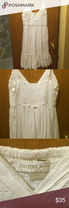 🌞GUESS WHITE SUMMER DRESS🌞 Like new in great shape size small,great for summer time!!!guess brand. Guess Dresses High Low