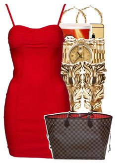 """{ ❤️❤️}"" by teyannaa1 ❤ liked on Polyvore featuring H&M, Goldgenie, Rolex, Giuseppe Zanotti and Louis Vuitton"