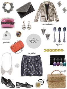 Gifts for the sparkleholic - I will accept any/all of these.