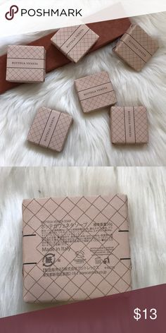 Bottega Veneta Beauty Make Up Product Known as one of the world's premier luxury brands, has now launched a gorgeous luxury bath collection. Made in Italy Vottega Veneta Soap This listing is for one 50g soap Bottega Veneta Accessories