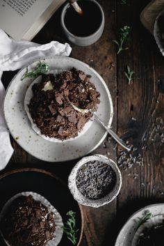 Dark Chocolate Merveilleux with Honey and Lavender
