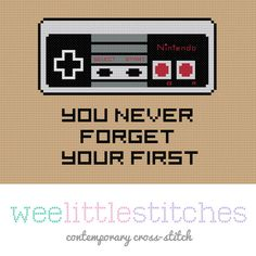 Nintendo Cross-stitch Pattern. Love this - but need a Super Nintendo version ^_^