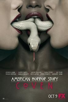 American Horror Story: Coven on DVD from Century Fox. Staring Taissa Farmiga, Gabourey Sidibe, Evan Peters and Emma Roberts. More Affairs & Love Triangles, Fantasy and Historical / Period Piece DVDs available @ DVD Empire. American Horror Story Coven, American Story, Ahs, Voodoo, 20th Century Fox, Dylan Mcdermott, Connie Britton, Anthology Series, American Horror Stories