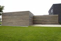 tuinhuizen met scheidingsmuur in ceder en padoek   Bogarden