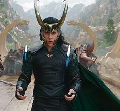 maryxglz:  Tom Hiddleston as Loki in Thor: Ragnarok!!!!! OMG!!!!      Bonus:
