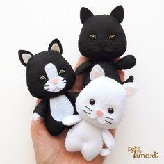 Apostila Digital - Gato Simples e Frajola - Gato em feltro Pocket.
