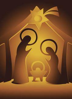 Illustration of Nativity scene vector art, clipart and stock vectors. Christmas Nativity Set, Christmas Bible, Christmas Images, Christmas Art, Winter Christmas, Christmas Lights, Christmas Decorations, Christmas Ornaments, Nativity Sets