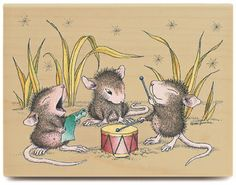 Houses Mouses learning song to drum.