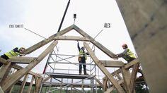 Raising a Carpenter Oak frame Oak Framed Buildings, Conservatory, Carpenter, Raising, Construction, Film, Crafts, House, Building