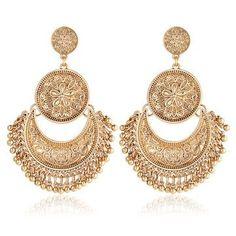 Miss JQ Vintage Gold Flower Earrings for Women Tassel Peandant Bohemia Ethnic Earrings Jewelry pendientes grandes nuevos . Product ID: Do It Yourself Jewelry, Jewelry For Her, Girls Jewelry, Jewelry Accessories, Women Jewelry, Fashion Jewelry, Fashion Accessories, Flower Earrings, Women's Earrings