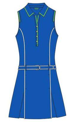 EP Pro Ladies Sleeveless Golf Dresses - Amalfi Coast (Juniper Multi)
