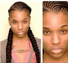 purple box braids for black women | Via Trish