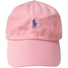 Polo Ralph Lauren Cap (Pink) ($25) ❤ liked on Polyvore featuring accessories, hats, pink hat, pink cap and caps hats
