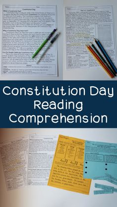 Constitution Day Ideas for September - This is a Constitution Day reading comprehension packet and close reading activities