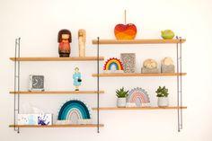 Bright colourful rainbows, wall hanging, fibre art decoration Boho Nursery, Nursery Neutral, Nursery Wall Art, Nursery Decor, Rainbow Nursery, Pink Wall Art, Rainbow Painting, Rainbow Print, Fibre Art
