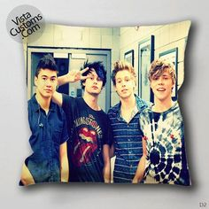 5 Seconds of Summer vintage potho Pillow Case, Chusion Cover ( 1 or 2 Side Print With Size 16, 18, 20, 26, 30, 36 inch )