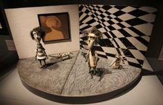 Detail of the Tim Burton exhibition, La Cinémathèque, Paris~