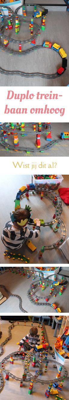 MizFlurry: Met de Duplo-treinbaan de hoogte in - Met Duplo-blokken kun je de baan van de trein laten stijgen, hij kan omhoog; dit wordt echt een super coole baan voor peuters en kleuters. #duplo #train #elevatedtracks Christmas Presents For Boys, Birthday Presents For Boys, Best Gifts For Boys, Presents For Men, Outdoor Toys For Boys, Cool Toys For Boys, Lego Duplo Train, Lego Brick, Diy Toys