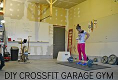 EVERYTHING you need to know about Crossfit at home and creating your own garage gym! #crossfit #fitness